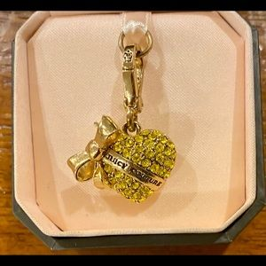 Juicy Couture Jewelry - Juicy Couture Yellow Pavé Heart Charm